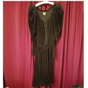 Very Vintage Betsy Johnson Velvet Dress